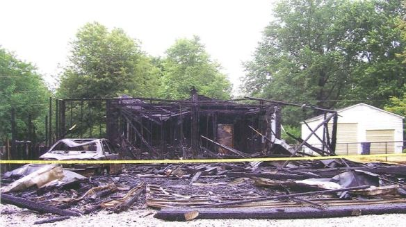 The aftermath of the devastating fire at the Varda residence